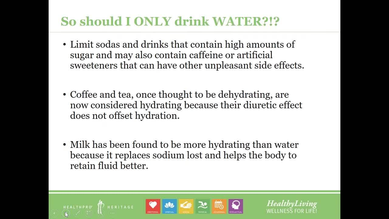 Hydration and You