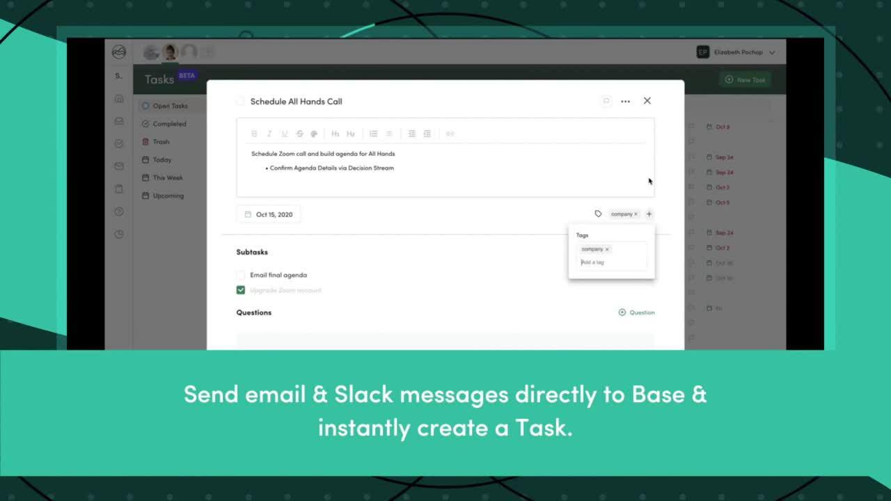 Tasks - website video
