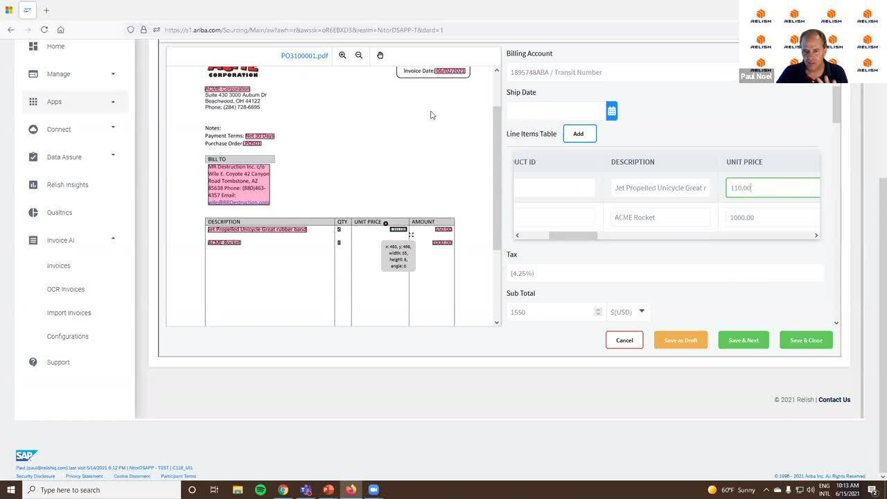 Relish Invoice AI