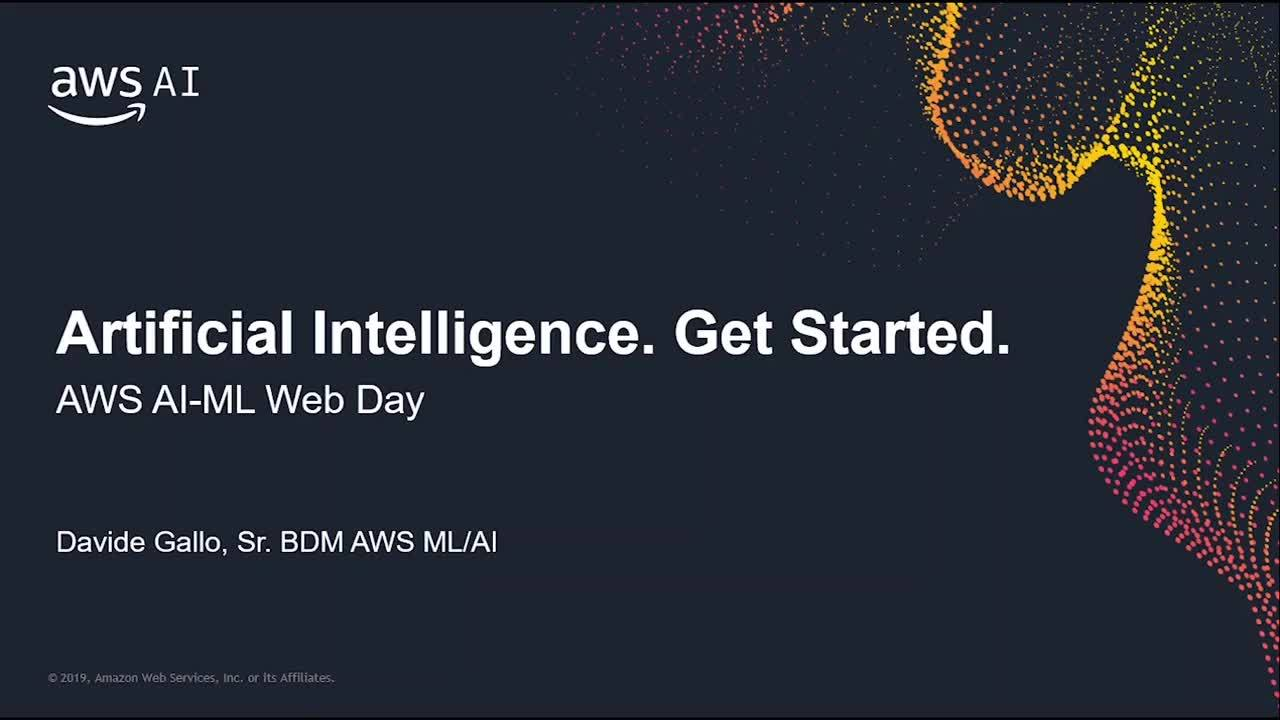Artificial Intelligence at Amazon: Machine Learning on AWS