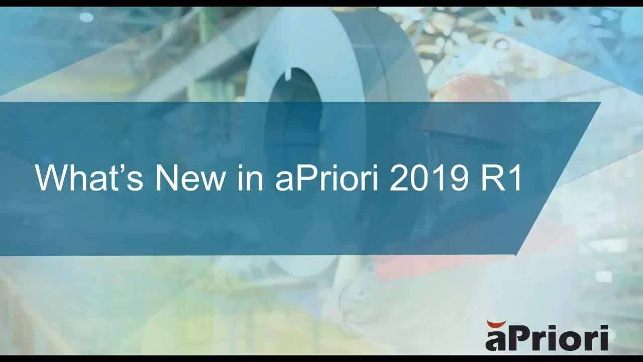 What's New in aPriori Professional 2019 R1