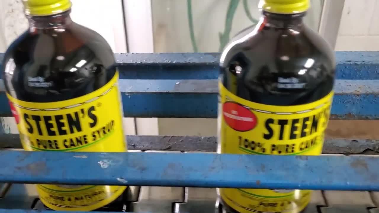 Meenjet MX1 Printer Coding JS21 White Ink on Syrup Bottles