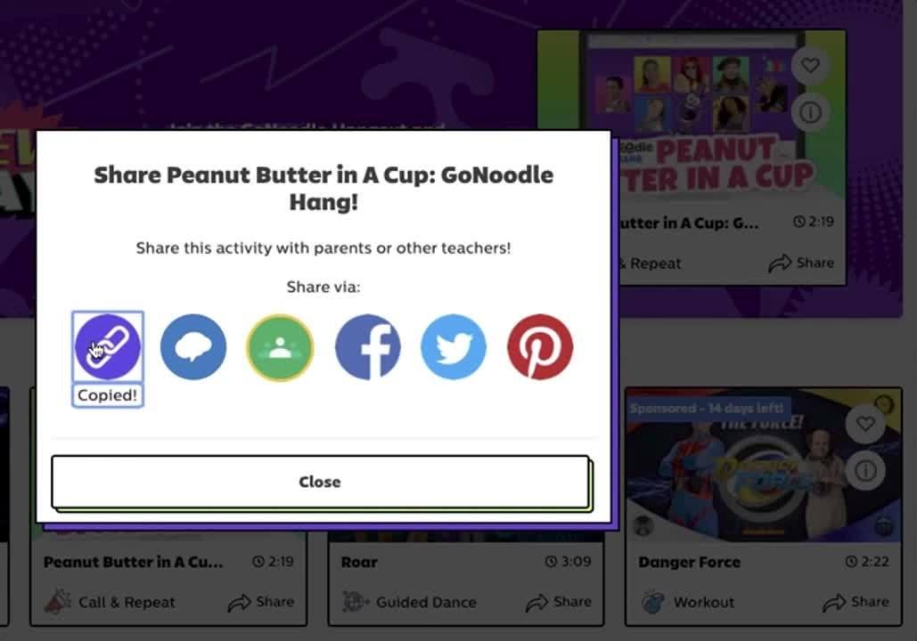 sharing gonoodle links
