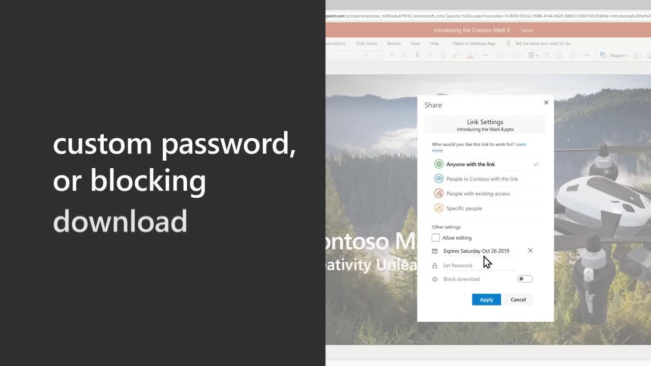 Seamless and secure sharing and collaboration with OneDrive
