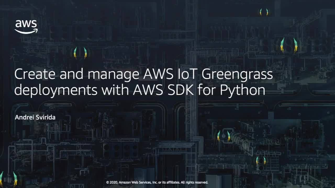 Create and Manage AWS IoT Greengrass Deployments with AWS SDK for Python (Boto3)