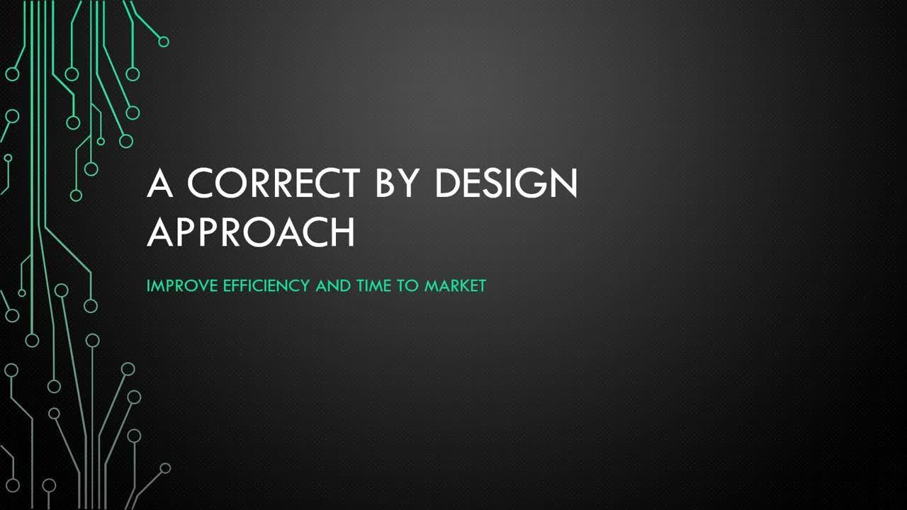 Webinar: Correct by Design