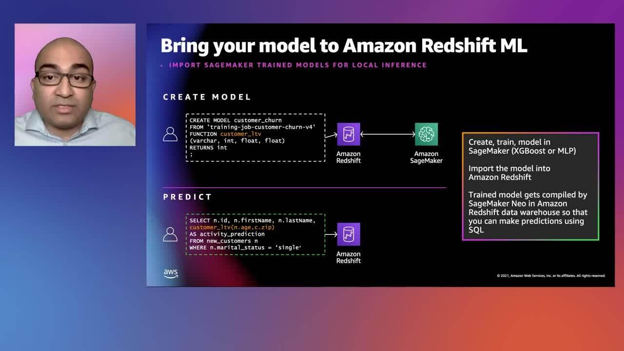 New data warehousing use cases with Amazon Redshift - Sain Das (August 2021)