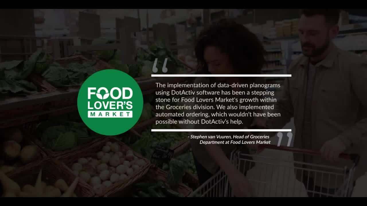 DotActiv Food Lovers Market Testimonial