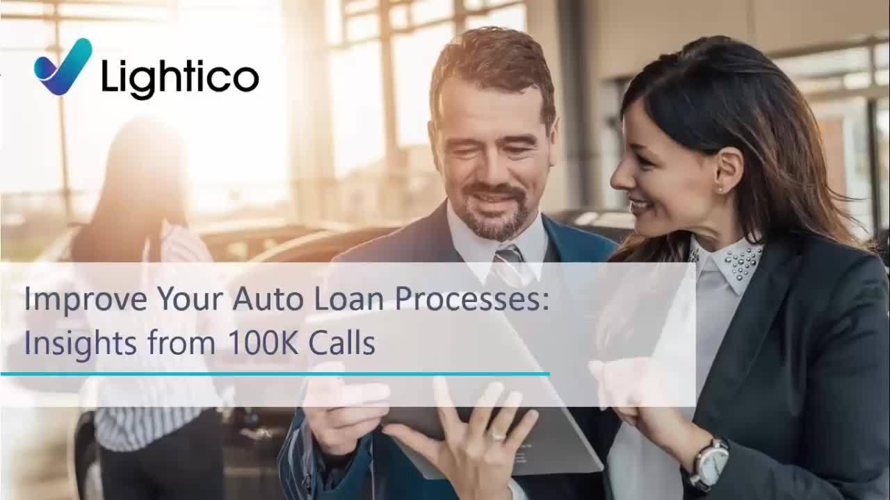 Auto Lending Webinar - lessons from 100k Loan applications