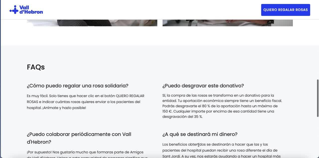 landing crowdfunding rosa solidaria
