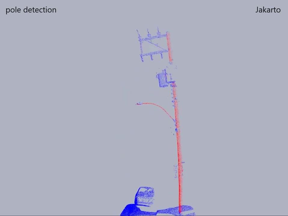 Jakarto 3d lidar pointcloud pole detection
