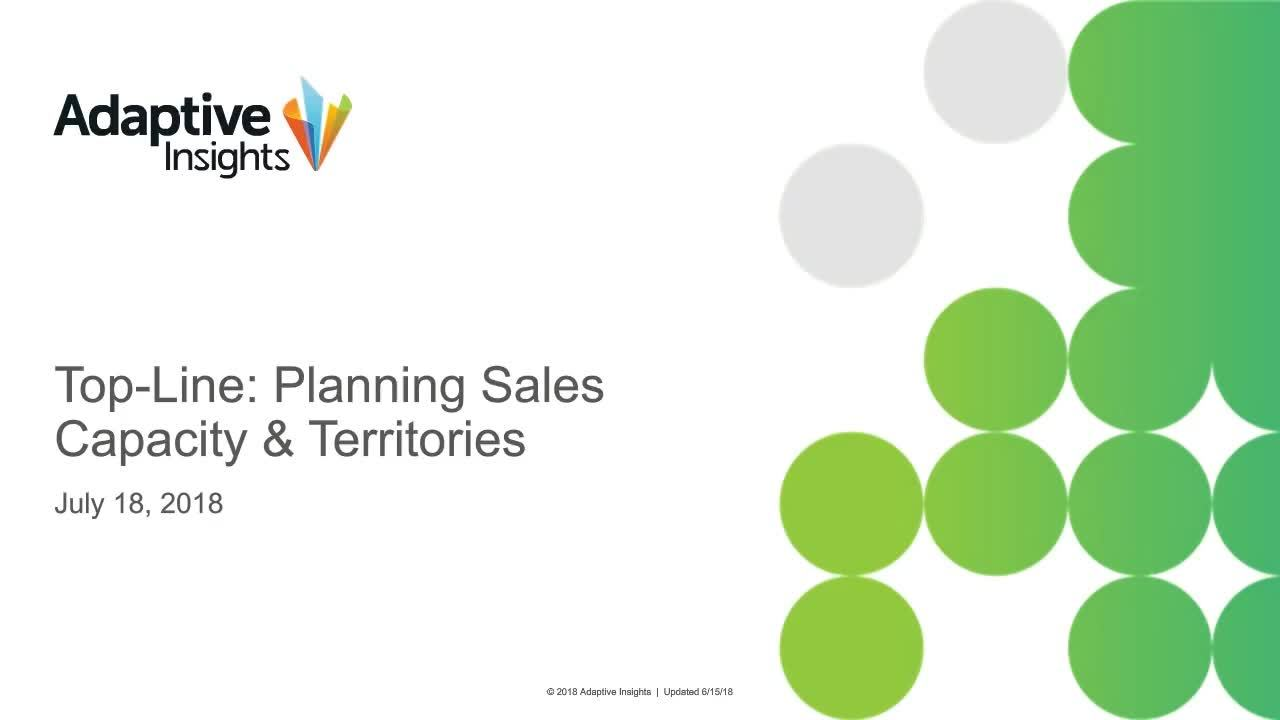 Screenshot for Top-Line: Planning Sales Capacity & Territories