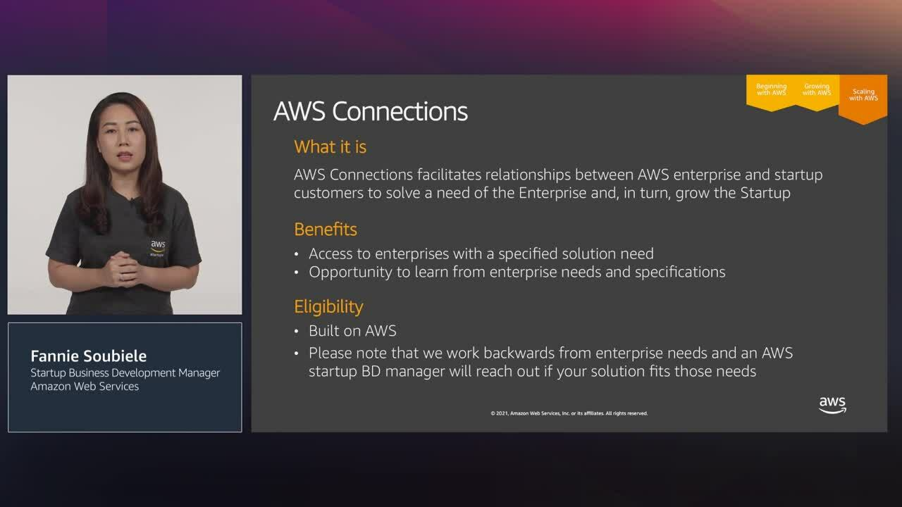 Getting started with AWS Startup Programs and building your MVP on AWS