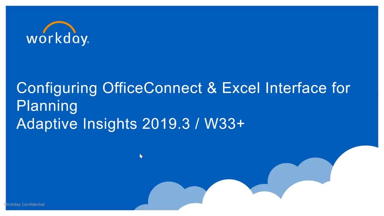 Adaptive Office Connect and EIP with Workday Credentials - What's New 2019.3