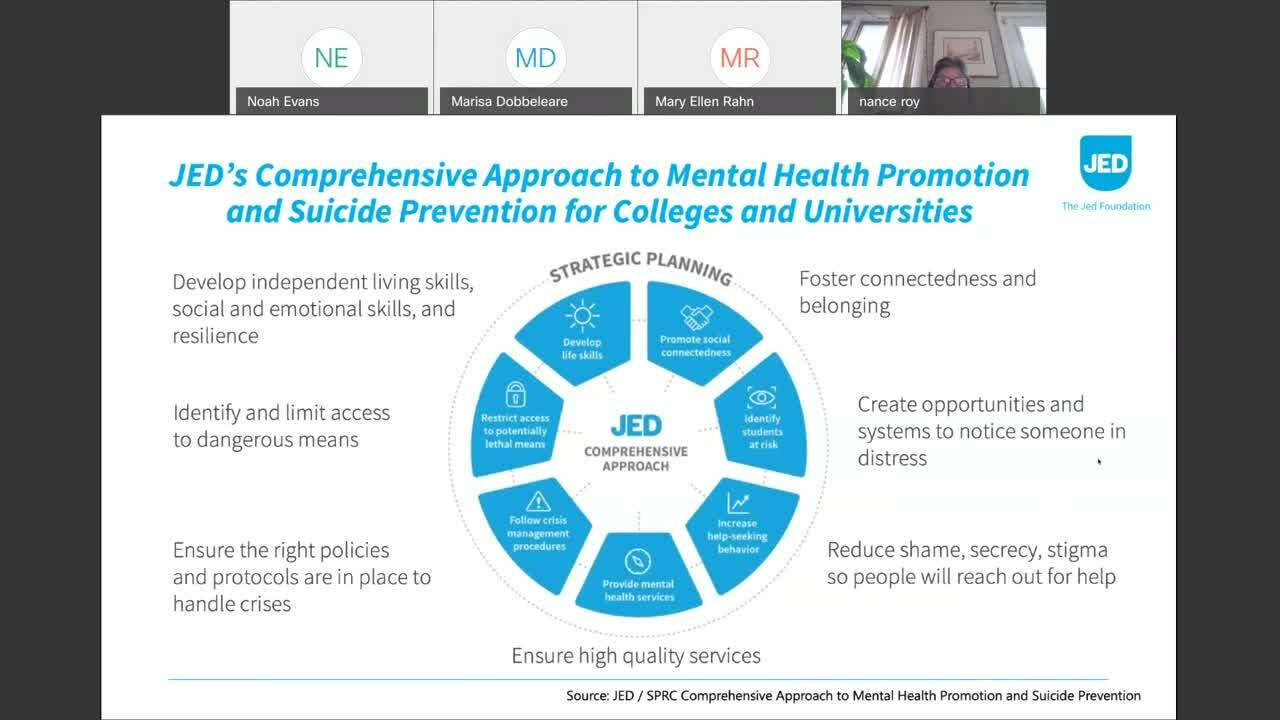 """""""Supporting Student Mental Health""""—Nancy Roy, Jed Foundation"""