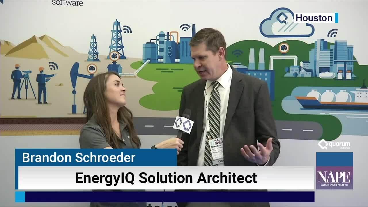 NAPE Interview: Brandon Schroeder, EnergyIQ Solution Architect