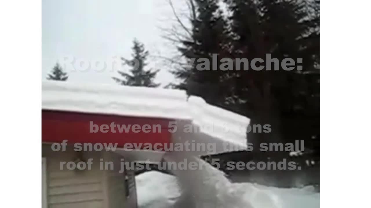S-5!® Dangerous Rooftop Avalanche