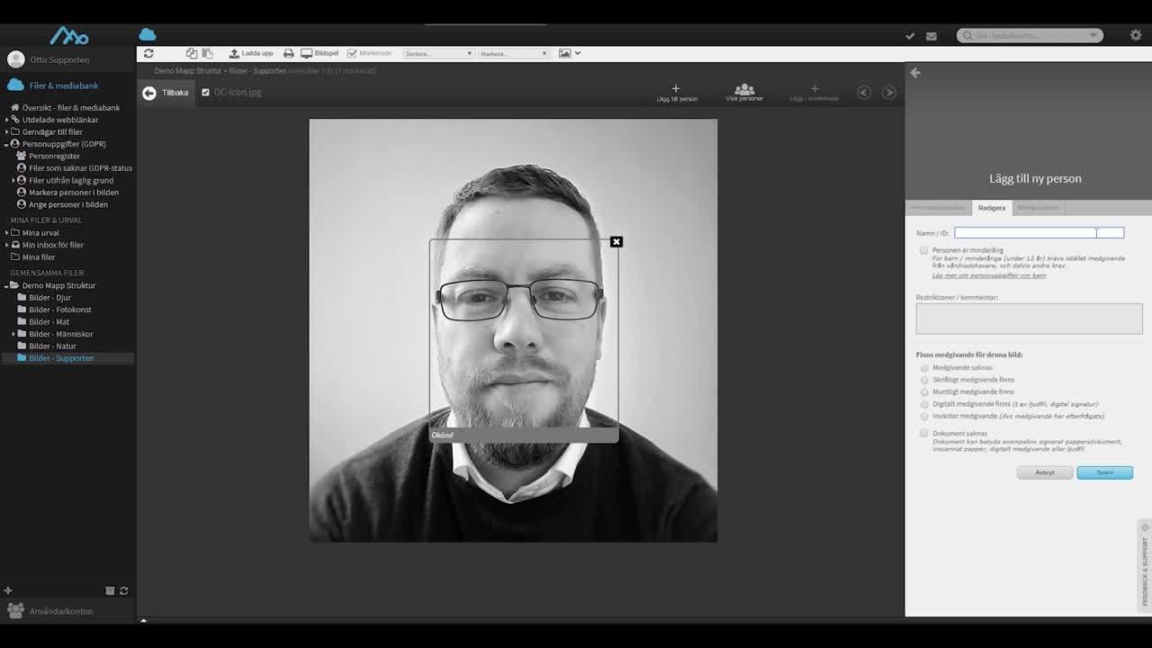 koppla ett digitalt medgivande till en bild