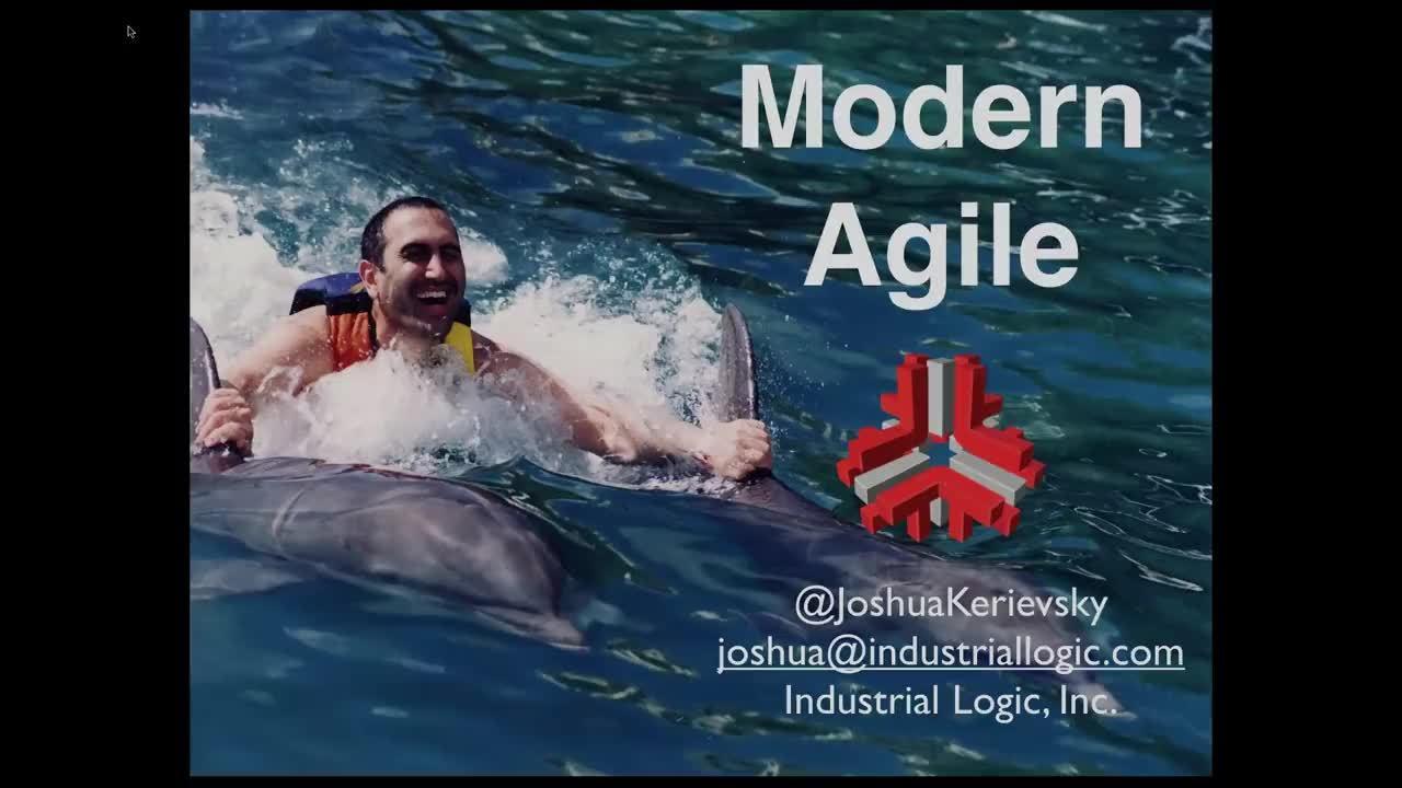 Video: Modern Agile Webinar with Joshua Kerievsky