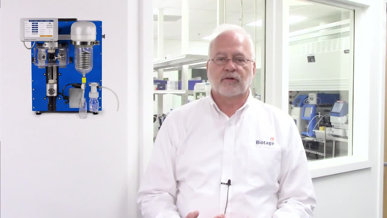 High-boiling solvents on Biotage V-10-