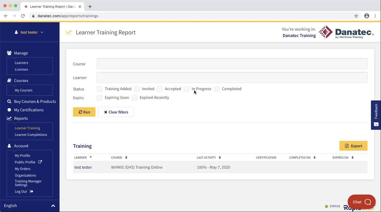 Training Manager - Reporting Pt. 2