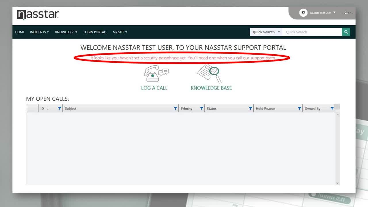 02 Creating your Security Passphrase in the Nasstar Support Portal