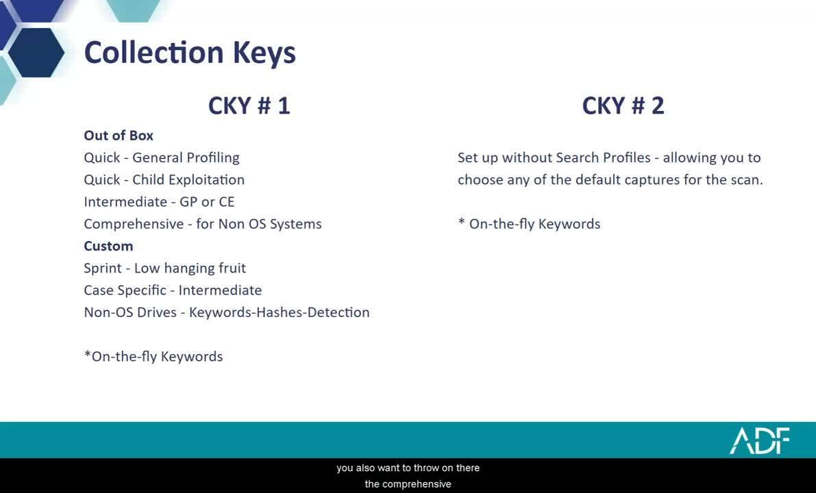 Prepare Evidence Collection Keys for a Digital Forensic Investigation