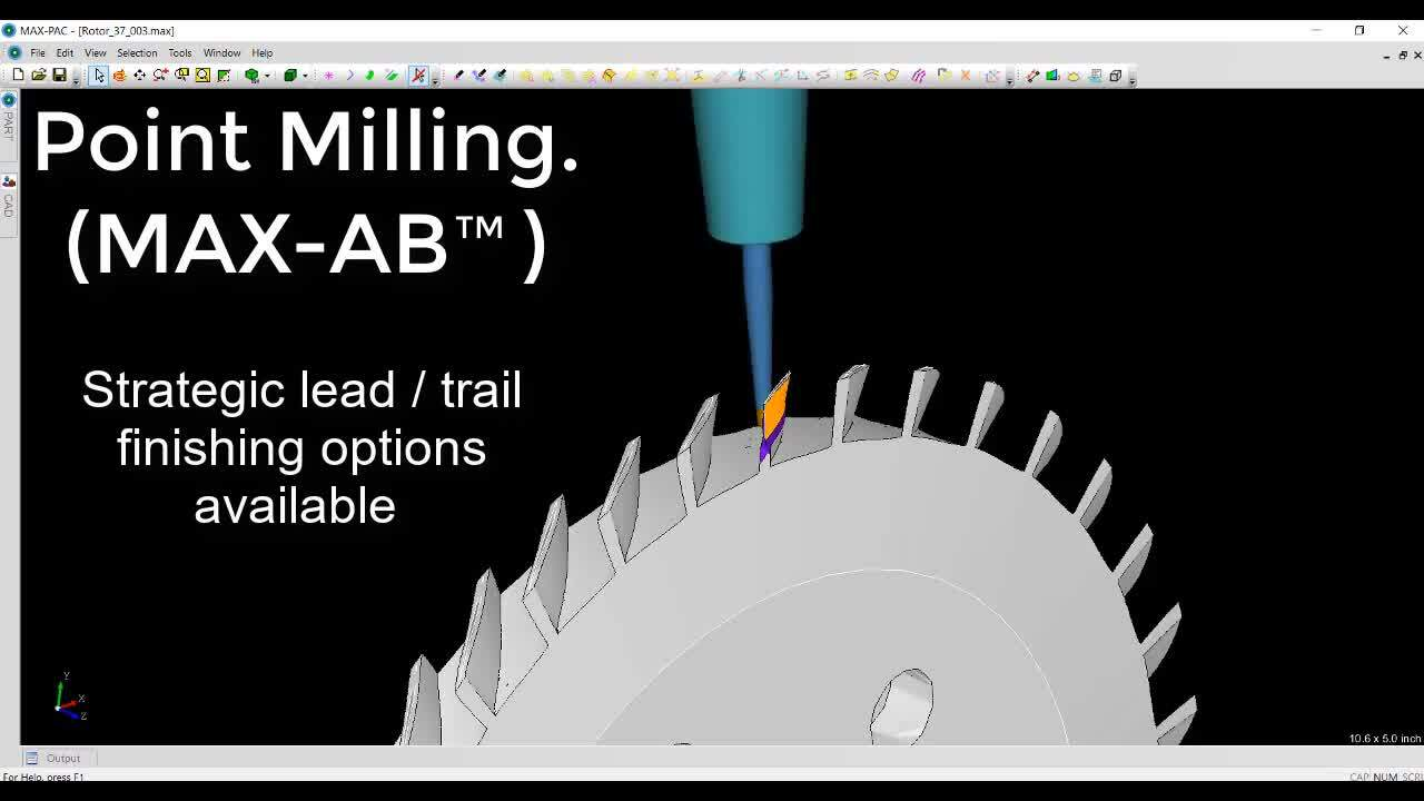 MAX-AB™ DEMO Point milling for free-form arbitrary blades
