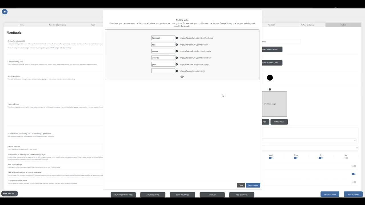 FlexBook Tracking Links