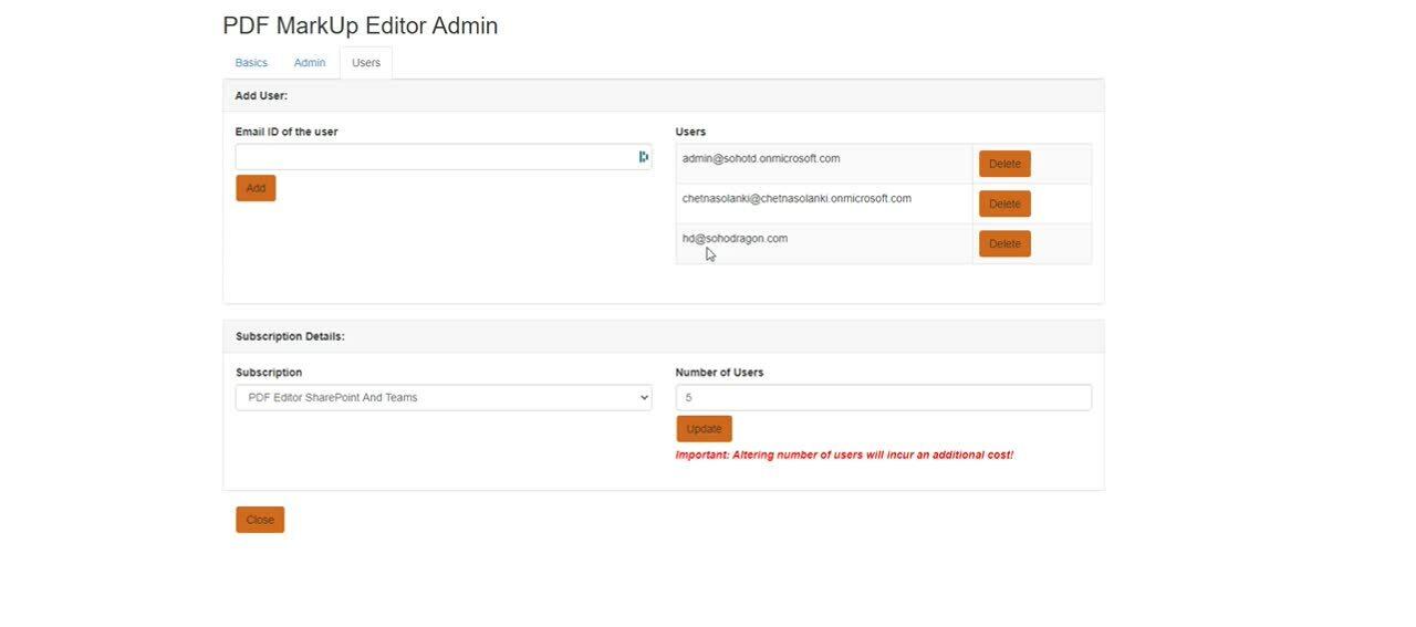 PDF Admin Management