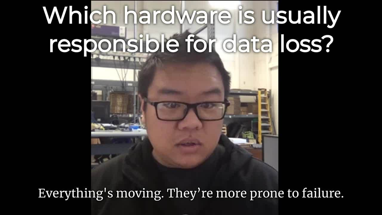 Mike- Which hardware is usually responsible for data loss (Captioned by Zubtitle) (1)