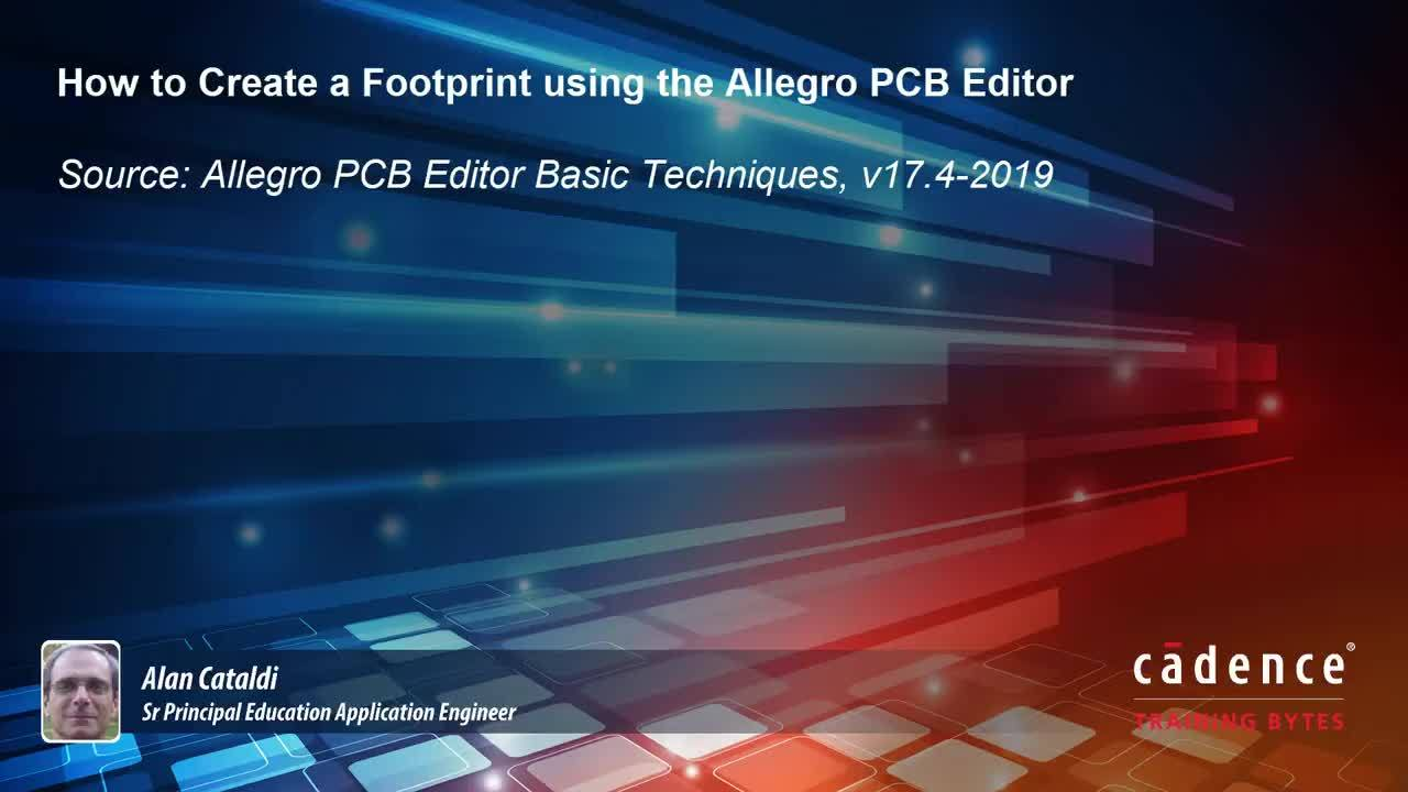Creating a PCB footprint with Allegro Designer