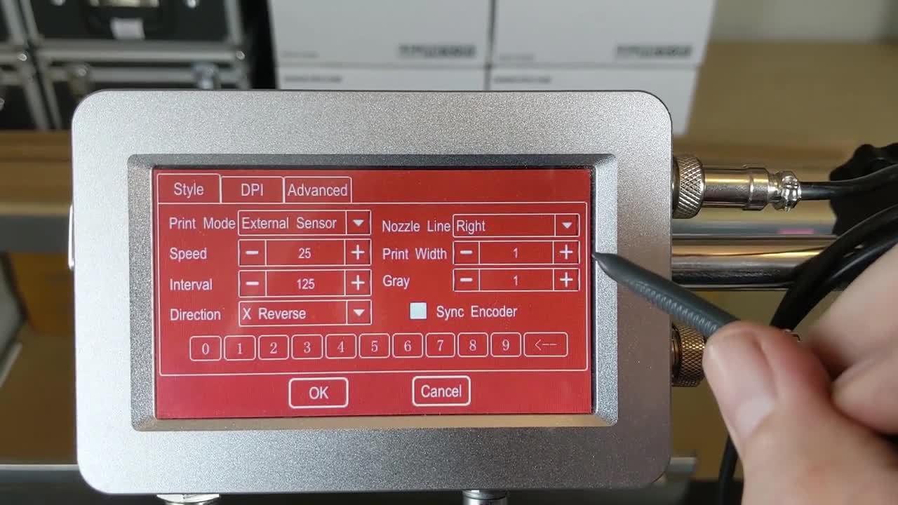 Meenjet MX1 Printer - Review of Print Settings Screen