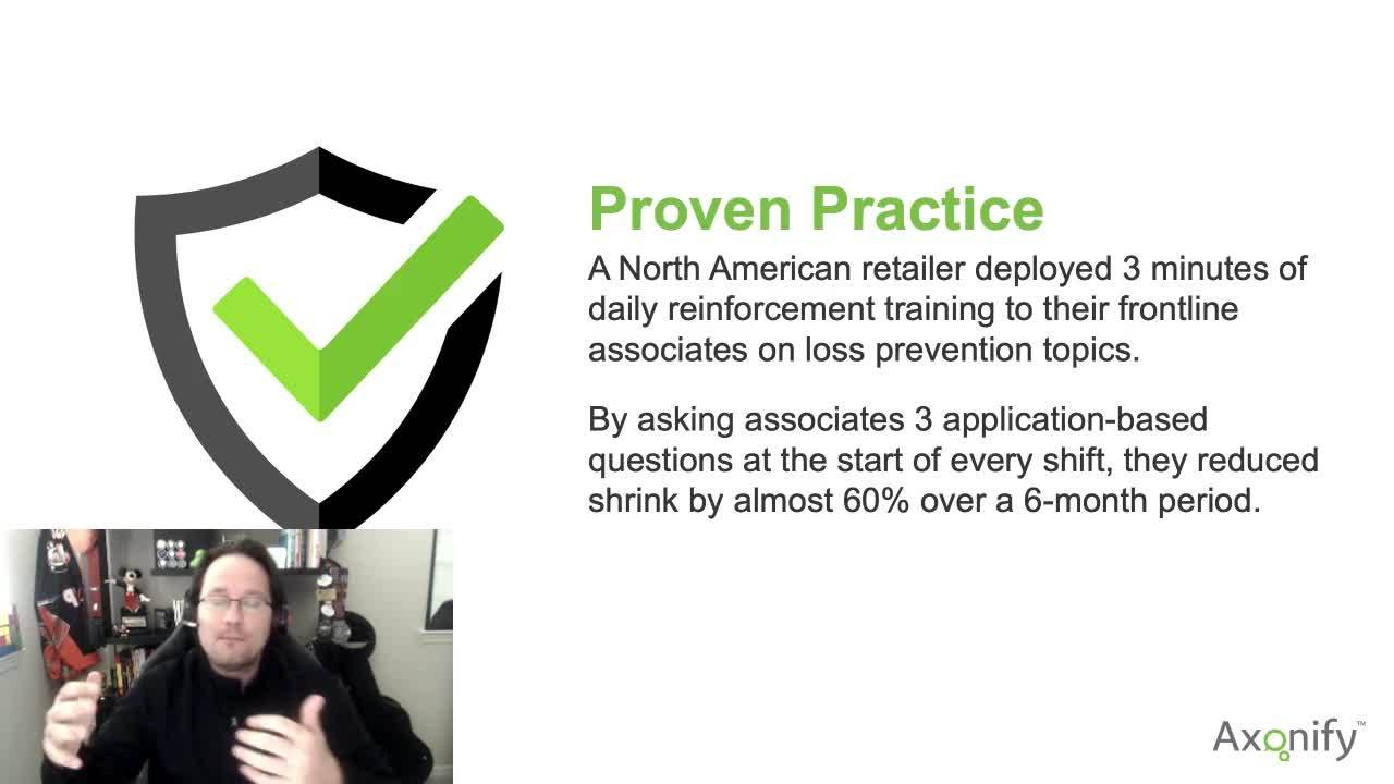 Reinforcement Proven Practice Example