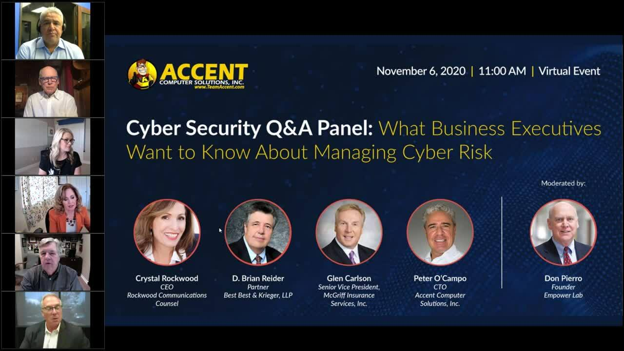 Cyber Security Q&A Panel_ What Business Executives Want to Know About Managing Cyber Risk