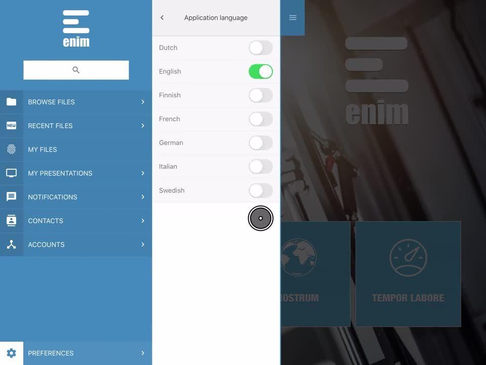 Changing Showell App language