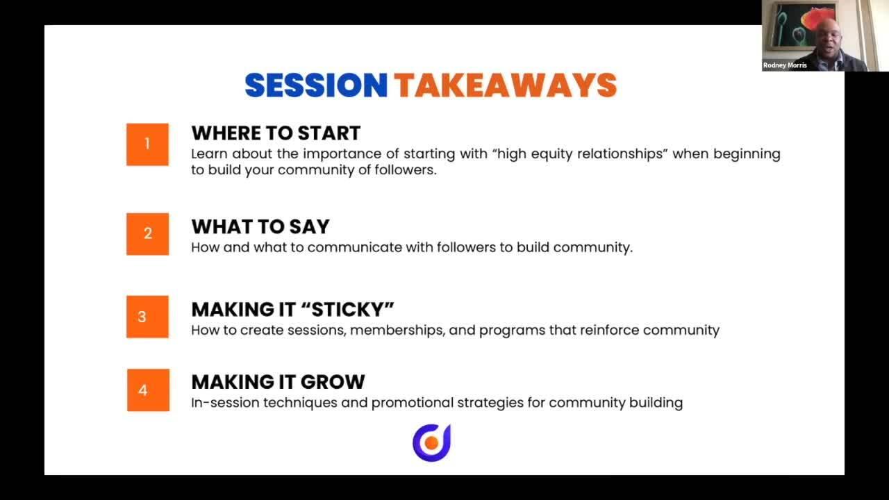 Sneak Peek Community Building Immersion with Rodney Morris (1)