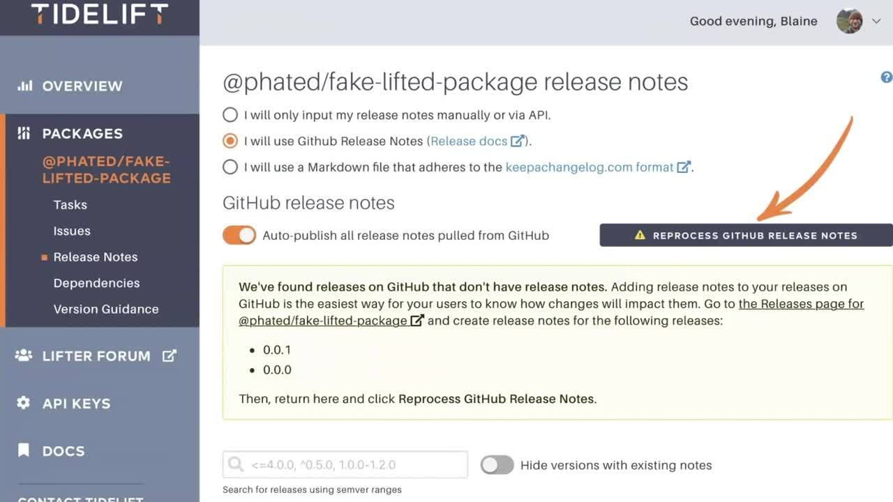Add Release Notes