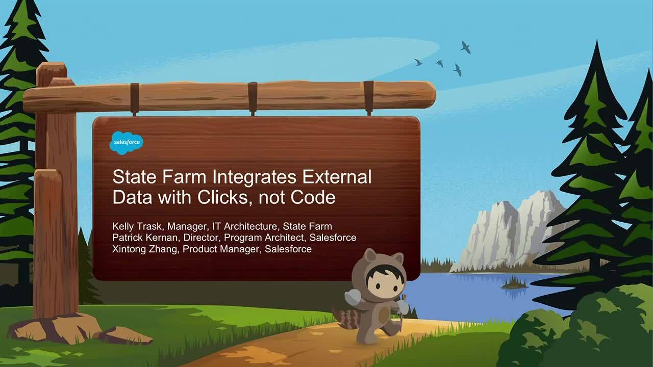 Dreamforce 2018: State Farm integrates external data with clicks, not code