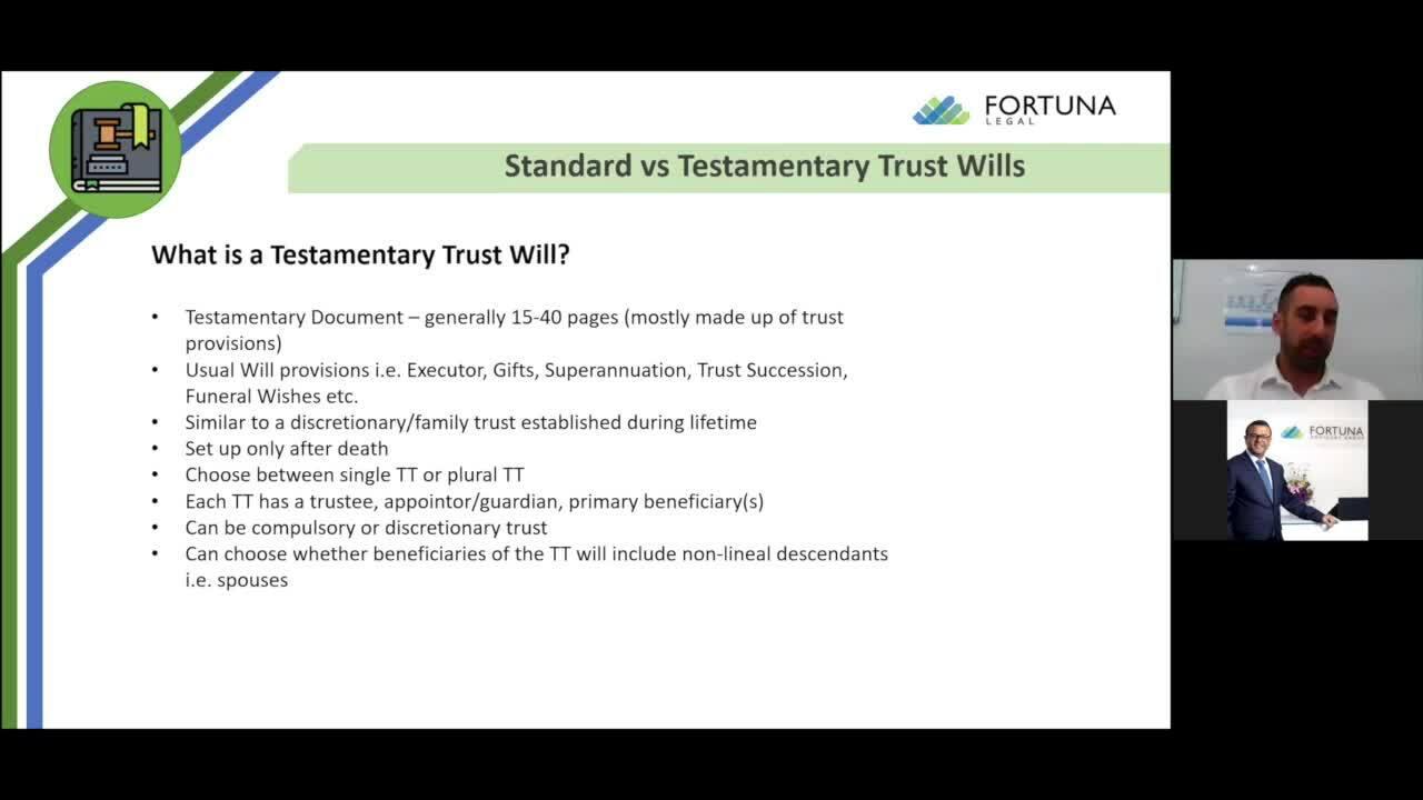 Fortuna Insights Seminar -  Standard vs Testamentary Wills_ Which one Will you choose_