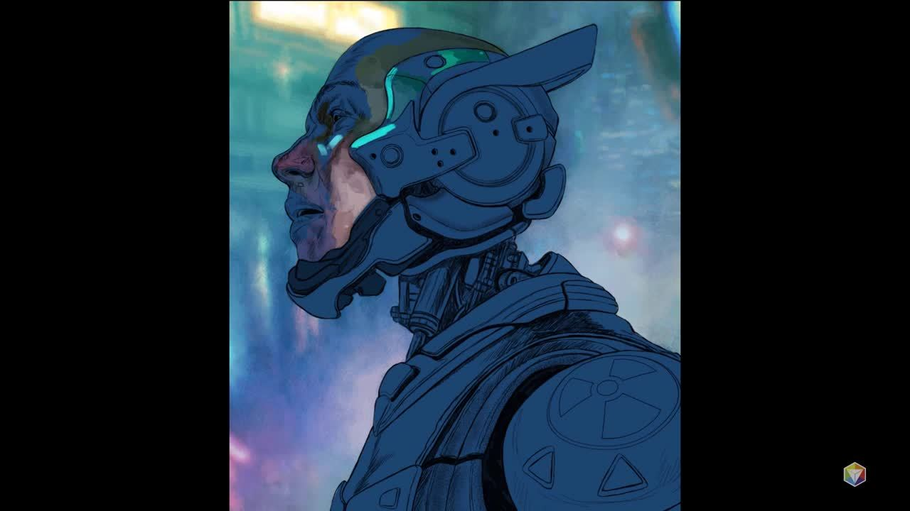 Advanced Digital Illustration Cyborg Timelapse Eric Wilkerson
