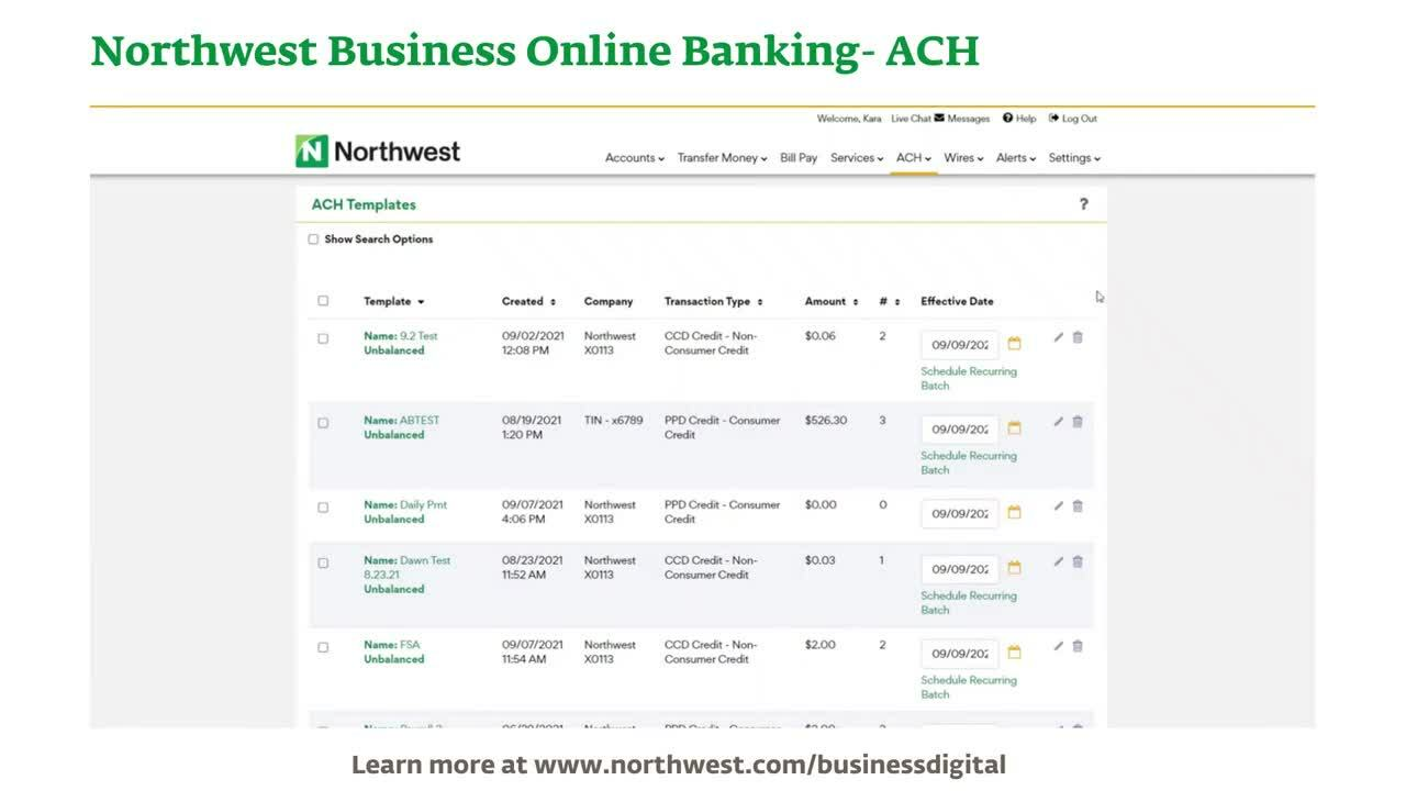Business Online Banking- ACH Demo Final