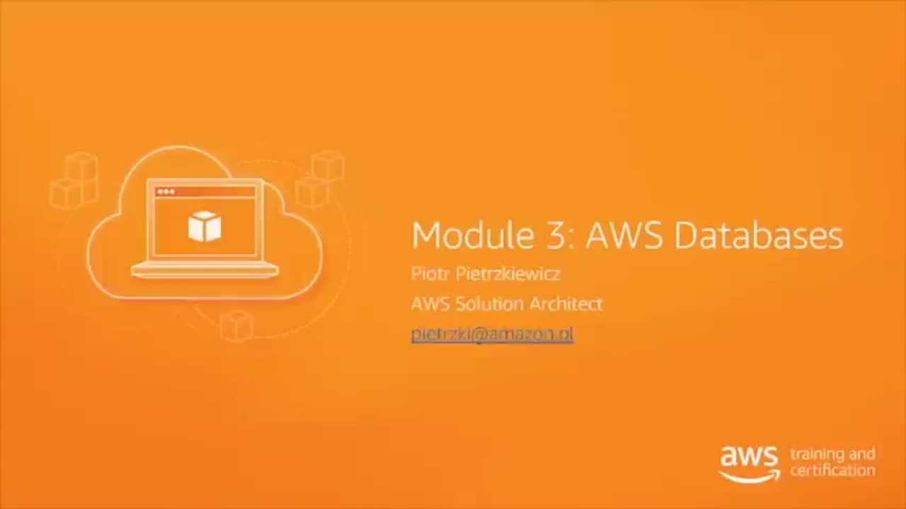 September 19 10:00 - 11:00 CET | AWS Databases (in Polish)