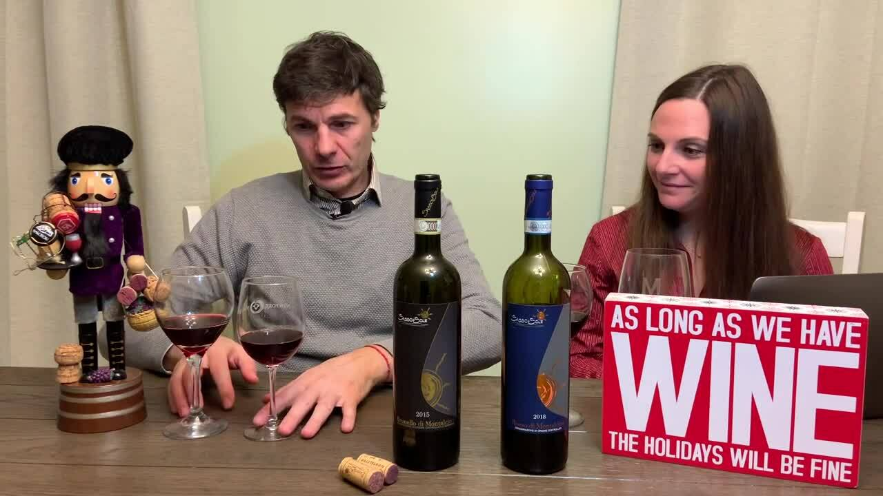 Wine tasting rosso brunello Sasso di Sole