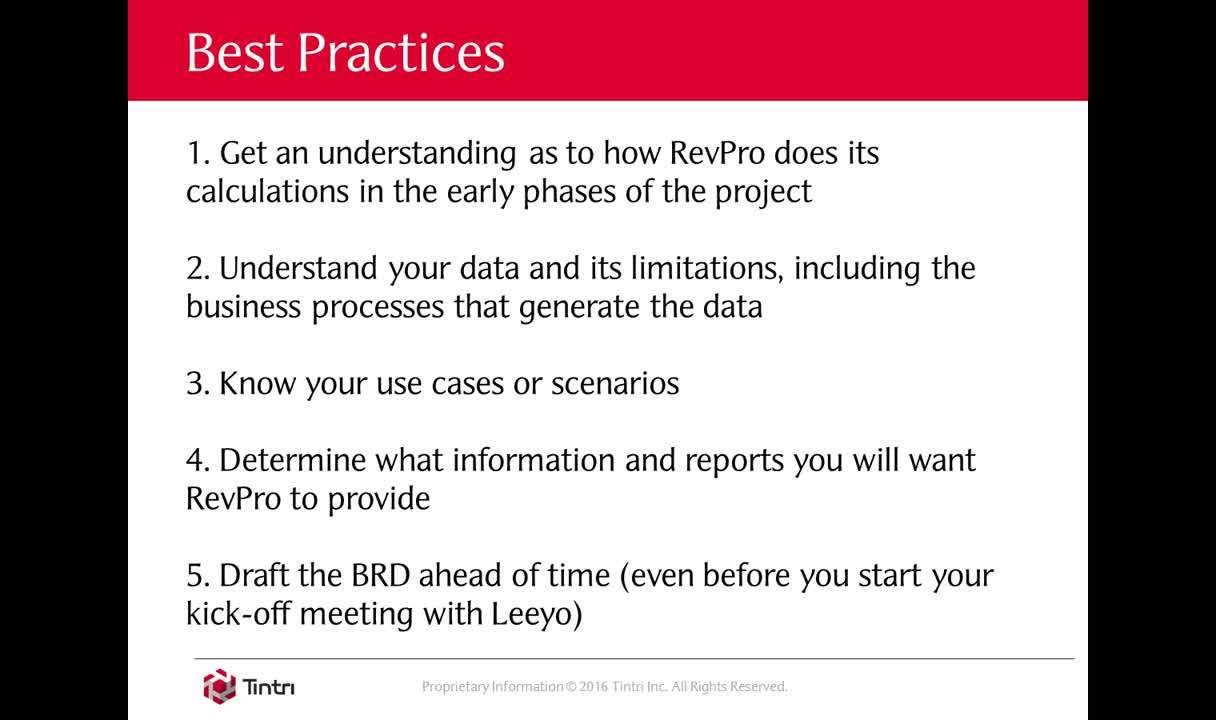 RevPro Webinar: Best Practices in Revenue Automation Implementation