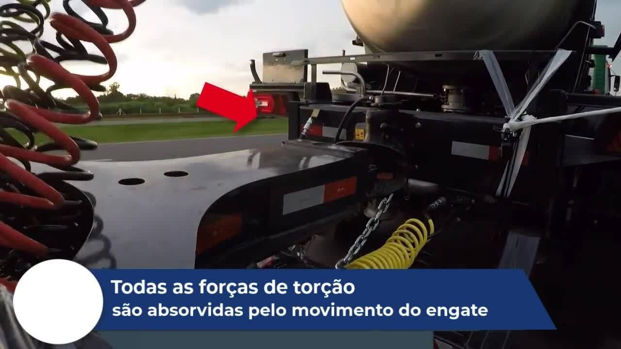 Não transmite torções para o chassis