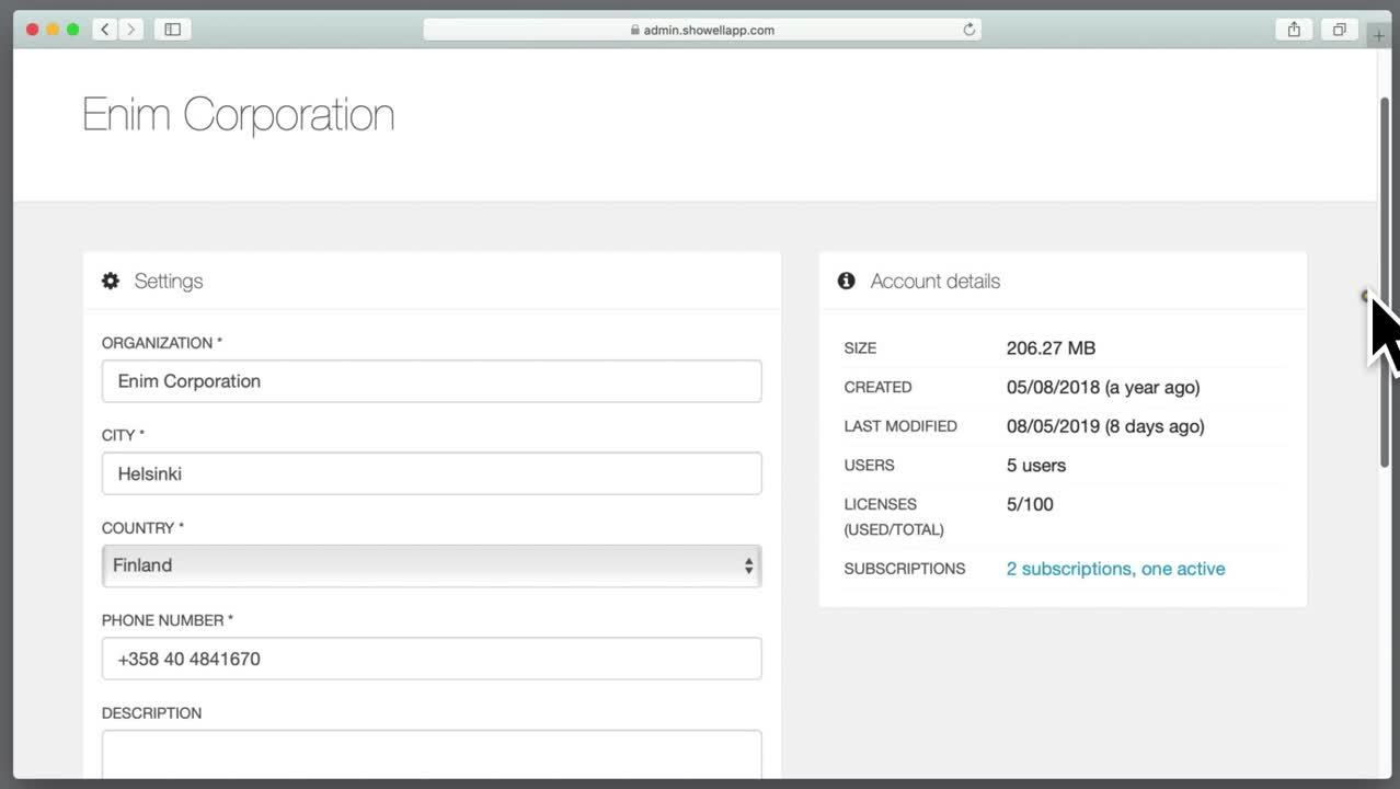 Admin_account settings