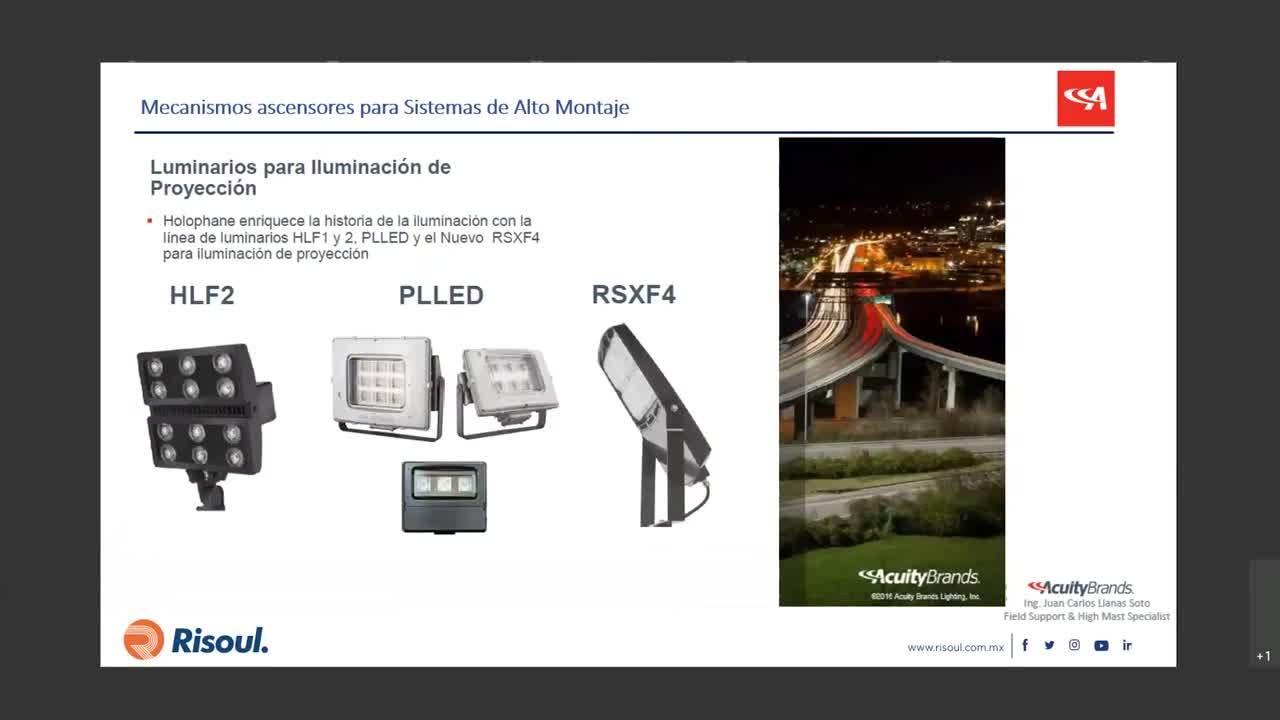 64 Iluminación para aplicaciones de grandes áreas Sistemas de alto montaje