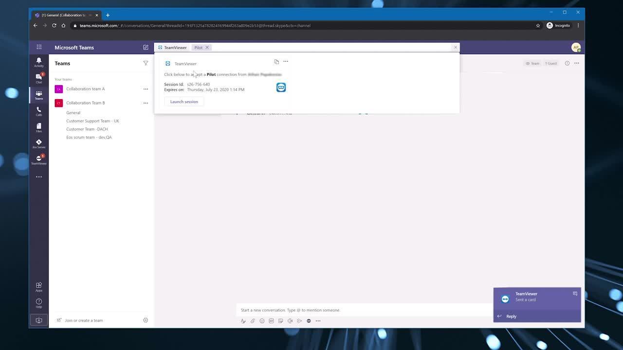 TeamViewer integratie Microsoft Teams