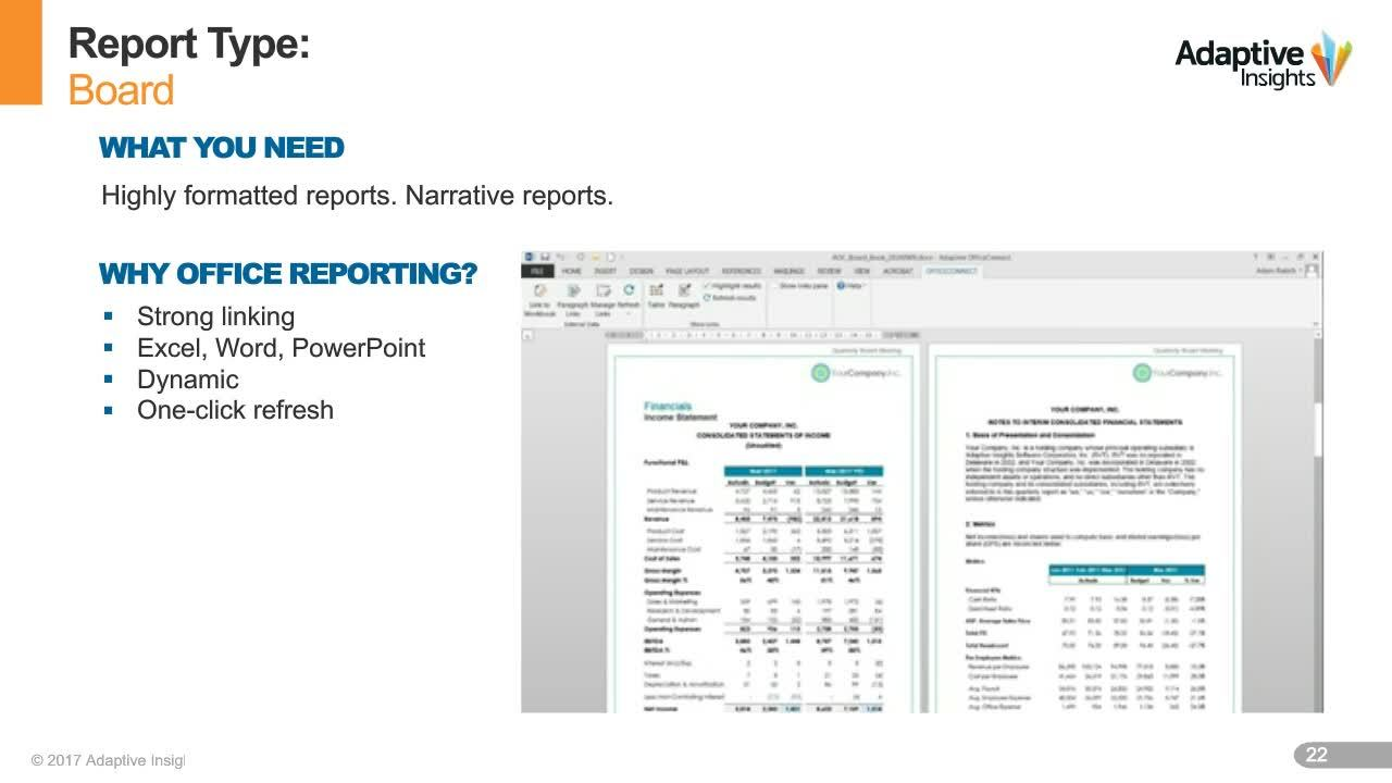 Screenshot for Time-Saving Tips for Managing Corporate Finance Reports
